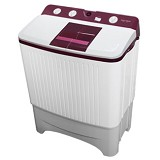 POLYTRON Mesin Cuci Twin Tub [PWM 9567WR] - White Red - Mesin Cuci Twin Tub